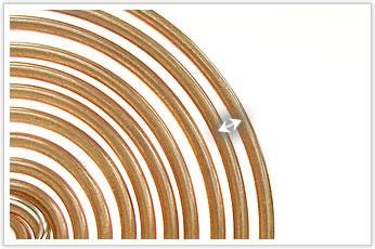 逸品その二. 丸線材の渦巻型平面巻き(電気機械部品)