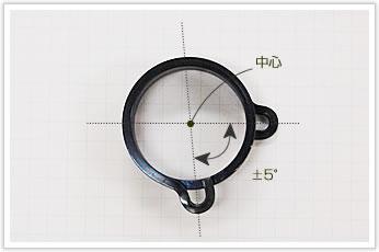 逸品その一. 巻き上げ機構のブレーキ用角バネ(平角線)