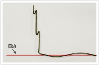 巻きピッチ100 コイル外径(D/d)=2.73 の電線吊り金具