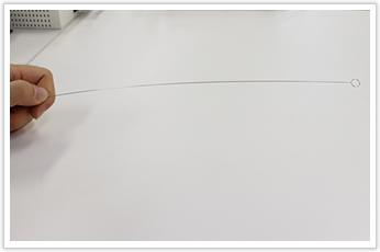 直線部が非常に長い引張バネ