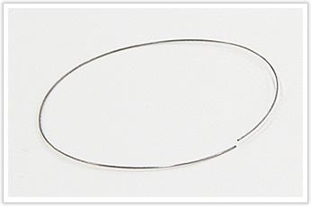 線径が非常に小さい、楕円形の線材加工品