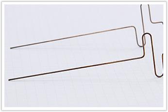 展開長が長い通電部品の線材曲げ加工品