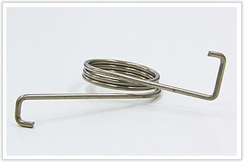 コイル外径が大きく、直線部の長さが長いトーションバネ