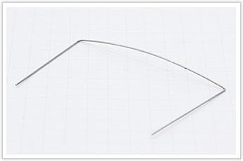 クッション性をもたせたRが大きい線材曲げ加工品