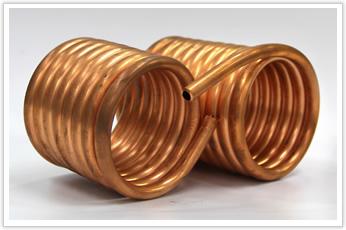 ガス管に利用される銅パイプ