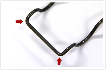 二輪自動車に利用される線材曲げ加工品