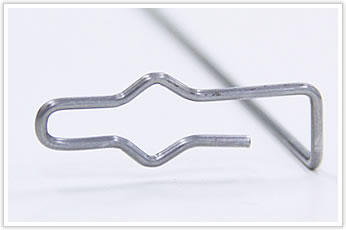 織機に利用される線材曲げ加工品