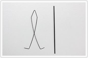 糸ガイドに使われる線材加工品
