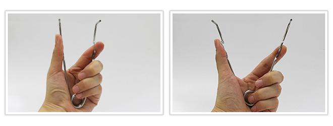 円筒状ゴムを内側から広げる用途のトーションバネ