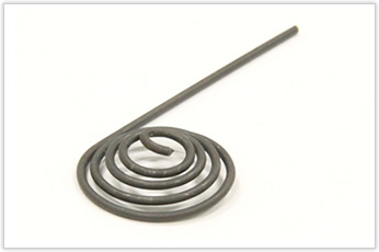 チタン製のアルキメデス螺旋状バネ