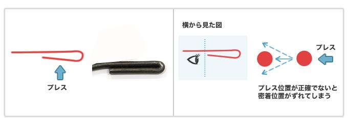 Rが非常に小さく、密着箇所が2つある線材曲げ加工品