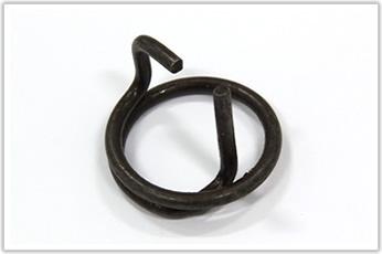 片端がコイルの内側に入り込んだ特殊形状のトーションバネ