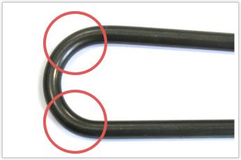 加工方法を工夫し、想定加工コストよりも安価な成形に成功した太径のバネ