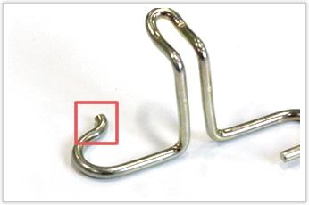 曲げRが小さい箇所を加工方法を工夫して実現した線材曲げ加工品