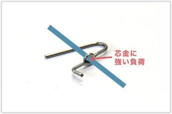 線径0.6mm、D/d≒2.6の曲げを自動機で一発成形したトーションバネ