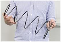 線径・コイル外径・自由長が大きい円錐圧縮バネ
