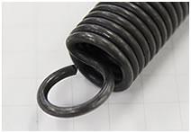 線径の細い、絞りフックの引っ張りバネ