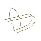 D/dが大きく、コイルの中央に2本の直線が貫通している線材曲げ加工品
